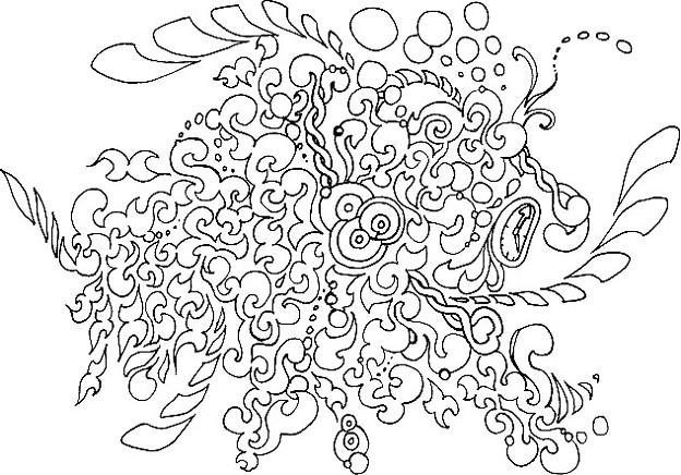 今日の昼休みに描いたんだけどなんかキモくなっちゃった