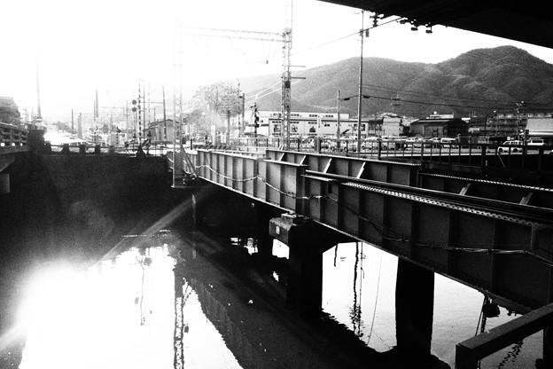 竹原 橋梁白黒撮影