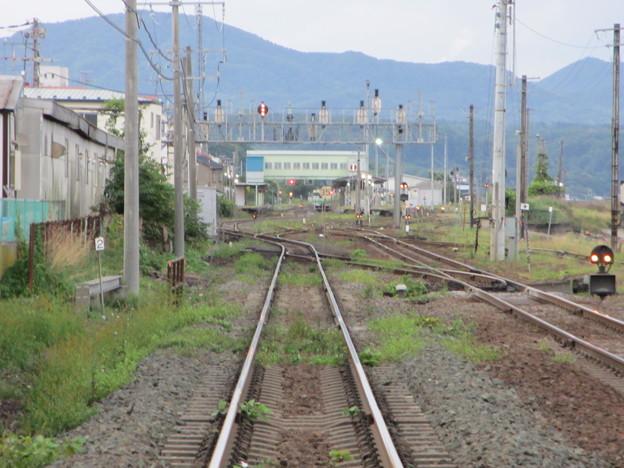森駅 2番線 進行