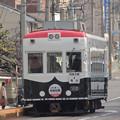 京の福で合格祈願 嵐電パトカー