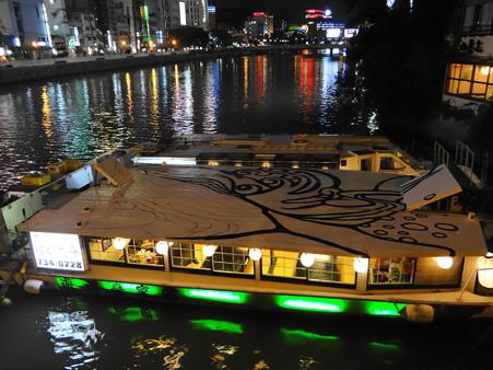 博多中洲のはかた舟と夜景