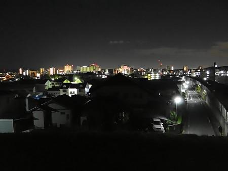 豊田市街の夜明け前