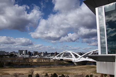 豊田スタジアム:4階からの市街地