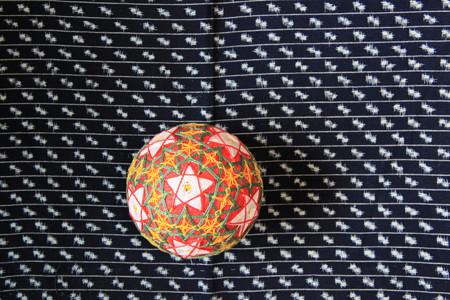手毬と久留米絣4