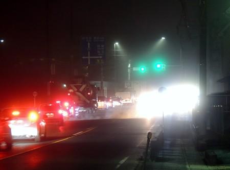 濃霧の交差点