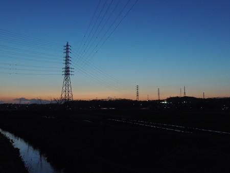 黄昏の鉄塔