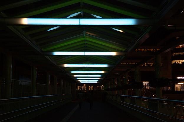 豊田市の夜景:ペデストリアンデッキ