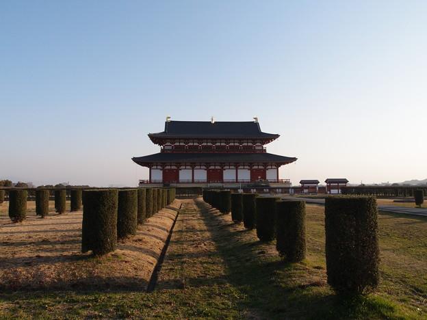 平城宮跡と謎の植え込み