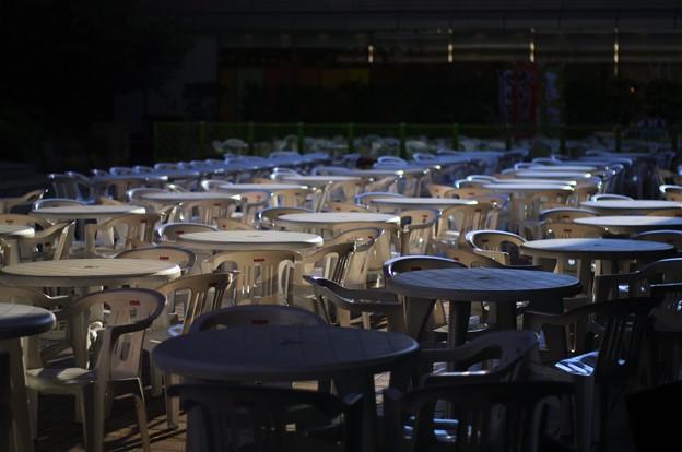 ライブを待つテーブル達