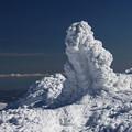 荒々しい樹氷