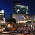 夜の仙台駅前