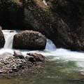 冷水の流れる釜川