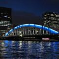 写真: 夜の永代橋