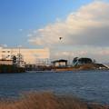 Photos: 河川の堤防工事
