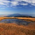 壮大な鳥海山の眺望