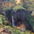 写真: 秋の蔵王不帰の滝