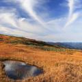 写真: 山から湧き上がる雲