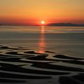 御興来海岸の夕陽