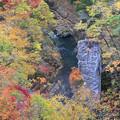 紅葉盛りの鳴子峡
