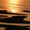 砂紋と残照の輝き