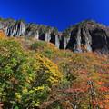 写真: 磐司岩の紅葉