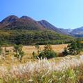 壮観な九重連山