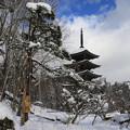 写真: 定義山の五重塔