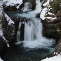 写真: 厳寒の滝
