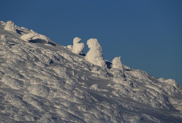 Photos: 凍結した山