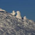 写真: 凍結した山
