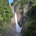 写真: 落差日本一の称名滝