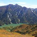 黒部湖と針ノ木岳