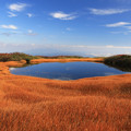 Photos: 天空の草紅葉と池塘