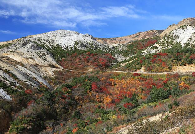 Photos: 荒々しい山々の紅葉