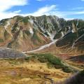 写真: 雄大な山見て気分爽快
