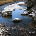 写真: 冷水流れる名取川