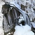 厳寒期の関山大滝