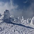 写真: 極寒の造形