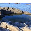写真: 海岸風呂のように