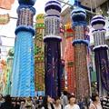 写真: 豪華絢爛な竹飾り