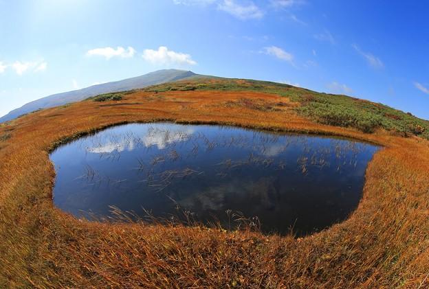 写真: 天空の池塘