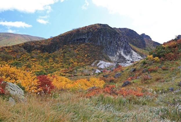 写真: 剣岳の紅葉美