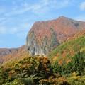 写真: 秋深まる磐司岩