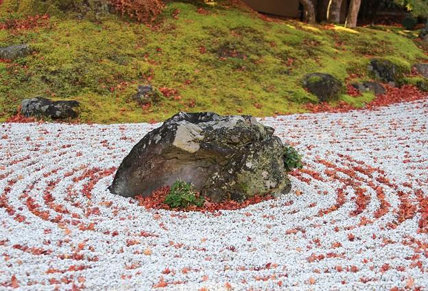 写真: 石庭の島