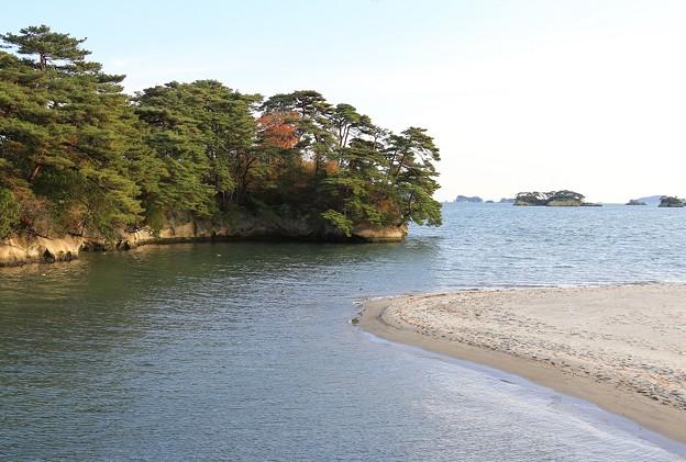 写真: 松島の砂浜