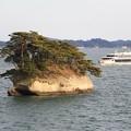 写真: 島巡りの船が行く