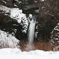 写真: 厳寒の不動滝