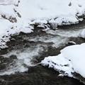 写真: 雪の流れ