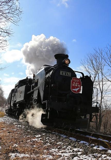 Photos: 疾走する蒸気機関車