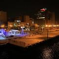 写真: 釧路の夜